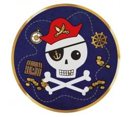 """Lėkštutės """"Piratų lobis"""" (8 vnt./22 cm)"""