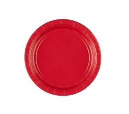 Lėkštutės, raudonos (20 vnt./17 cm)