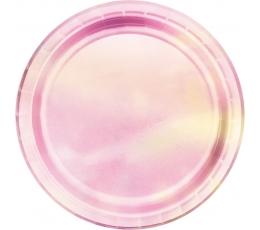 Lėkštutės, rausvai perlamutrinės (8 vnt./22 cm)