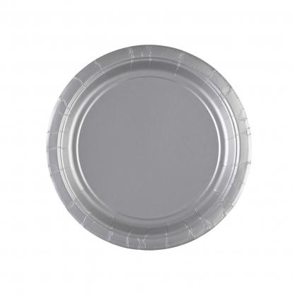 Lėkštutės, sidabrinės (8 vnt./17 cm)