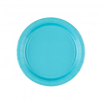 Lėkštutės, vandenyno spalvos (8 vnt./17 cm)