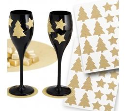 """Lipdukai """"Auksinės žvaigždutės"""" (40 vnt./3 cm)"""