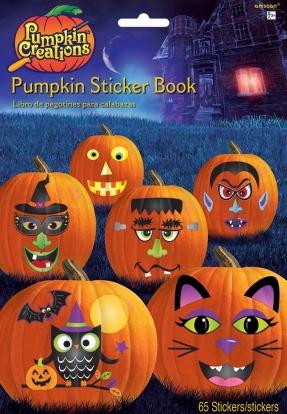 "Lipdukų knyga ""Helovino moliūgai"" (65 lipdukai)"