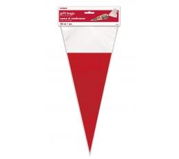 Maišeliai-trikampiai, raudonai-balti (20 vnt.)