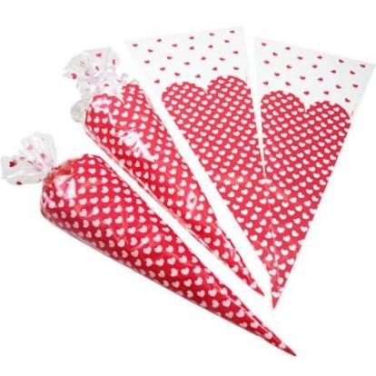 """Maišeliai-trikampiai """"Širdelės"""" (20 vnt.)"""