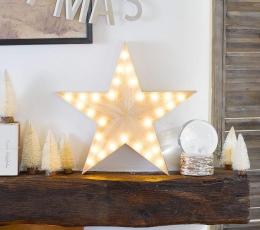 """Medinė šviečianti dekoracija """"Žvaigždė"""" (33 cm) 1"""