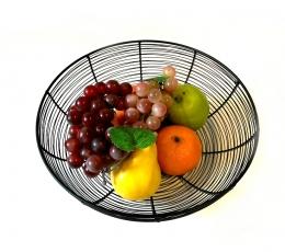 (NUOMA) Metalinis indas-krepšelis vaisiams, juodas (30 cm) 1