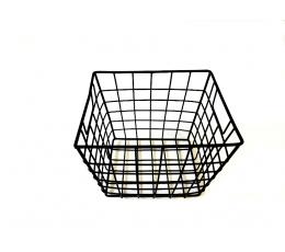 (NUOMA) Metalinis krepšelis-dėžutė, juodas (16,5x14)