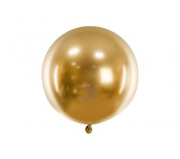 Metalizuotas balionas, apvalus auksinis (60 cm)