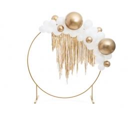 Metalizuotas balionas, apvalus auksinis (60 cm) 1