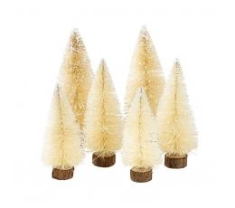 "Mini dekoracijos ""Kalėdų eglutės"" (6 vnt.)"