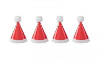 """Mini kepuraitės """"Kalėdų senelis"""" (8 vnt.)"""