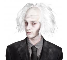Mokslininko zombio perukas, baltas