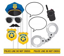 """Aksesuarai fotosesijai """"Policija"""" (10 vnt.)"""