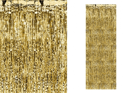 Aukso folijos užuolaida-lietutis (90x250 cm)
