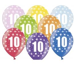 "Balionai ""10"", spalvoti (6 vnt./30 cm)"