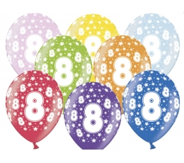 "Balionai ""8"", spalvoti (6 vnt./30 cm)"