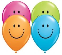 """Balionai """"Įvairiaspalviai šypseniukai"""" (50 vnt./28 cm)"""