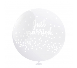 """Balionai """"Just Married"""" (6 vnt./50 cm)"""