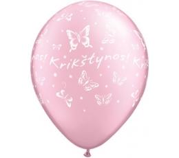 """Balionai """"Krikštynos"""" - rožiniai (25vnt./28cm.)"""