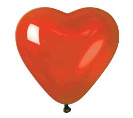 """Balionai, """"Raudona širdelė"""" (10 vnt./25 cm.)"""