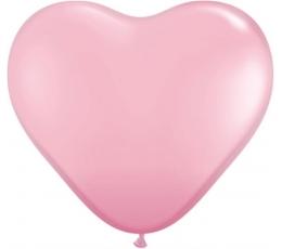"""Balionai """"Rožinės širdelės"""" (10 vnt./15 cm.)"""