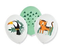 """Balionai """"Safari gyvūnai"""" (6 vnt./27 cm)"""