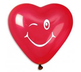 """Balionai """"Širdelės - šypsenos"""" (10 vnt./25 cm.)"""