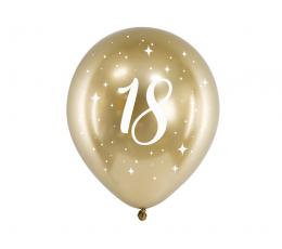 """Balionas """"18"""", auksiniai metalizuoti (6 vnt./30 cm)"""