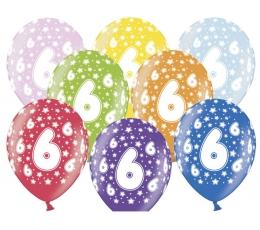 """Balionas """"6-asis gimtadienis"""" (30 cm)"""