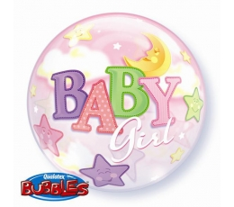 "Balionas-bubble ""Baby girl"" (56 cm)"