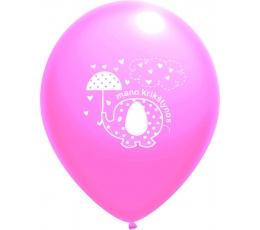 """Balionas """" Krikštynų drambliukas"""", rožinis (30 cm)"""