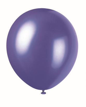 Balionas, perlamutrinis violetinis (30 cm)