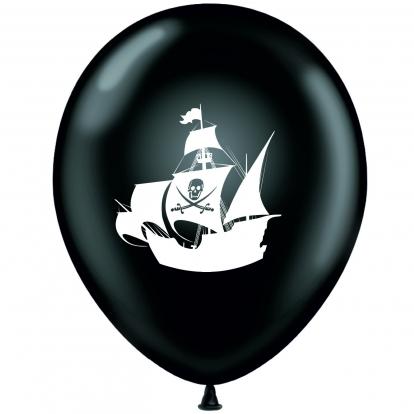"""Balionas """"Piratai"""",juodai-baltas (30 cm)"""