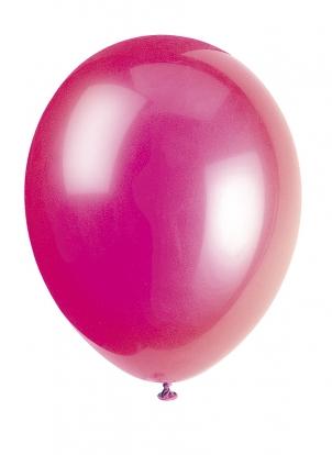 Balionas, ryškiai rožinis perlamutrinis (30 cm)