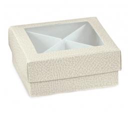Balta - skaidri dovanų dėžutė (1 vnt./120x120x40 mm.)