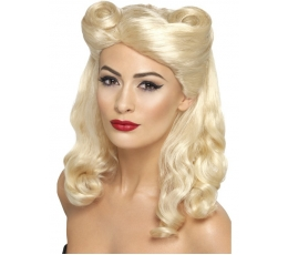 Banguotas šviesių plaukų perukas