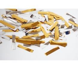 Barstoma konfeti - auksiniai, sidabriniai popieriukai (10 g.)
