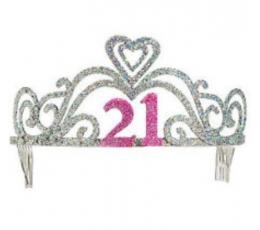 """Blizganti gimtadienio tiara """"21"""""""