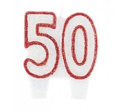 """Blizganti žvakutė """"50"""" (1 vnt./5.5 cm)"""