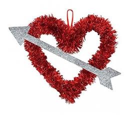 """Blizgučių dekoracija """"Perverta širdis"""" (27x33 cm)"""