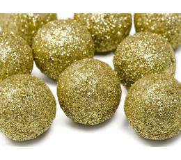 Burbulai-dekoracijos, auksiniai (9 vnt./3 cm)