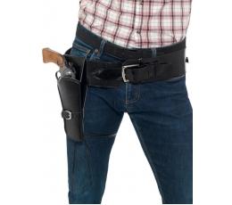 Dėklas ginklui su diržu / juodas