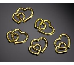 "Dekoracija ""Auksinės širdelės"" (25 vnt.)"