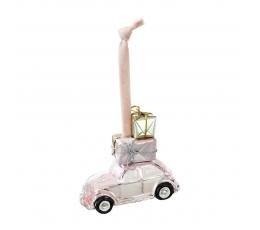 """Dekoracija-eglutės žaisliukas """"Rožinė mašinėlė"""""""