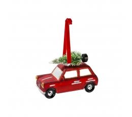 """Dekoracija-eglutės žaisliukas """"Vežu Kalėdų eglę"""""""