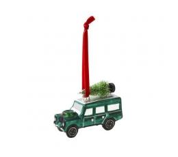 """Dekoracija-eglutės žaisliukas """"Žalias džipas"""""""