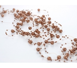 Dekoracija perliukų ruda (5 vnt. / 1,3m.)