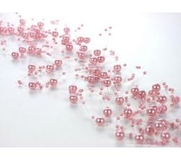 Dekoracija perliukų/šv.rožinė (1vnt./1,3m.)