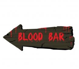 "Dekoracija-ženklas ""Blood bar"" (50 cm)"